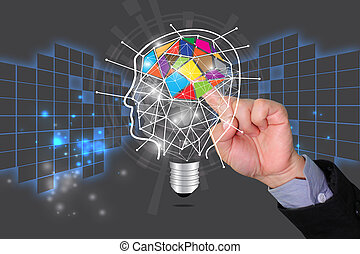 idee, kennis, concept, delen, opleiding