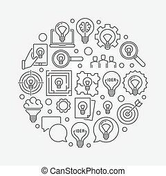 idee, llustration, kreativ