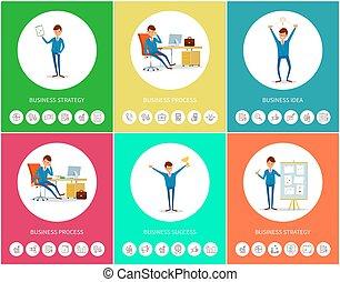 idee, planning, succes, handel strategie