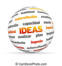 idee, sfera, (in, spanish)