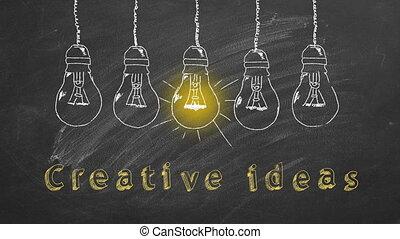 ideen, kreativ, begriff