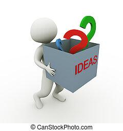 ideen, und, fragen