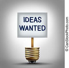 ideer, ønskes