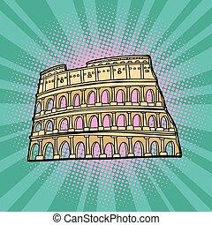 idegenforgalom, utazás, italy., coliseum., róma