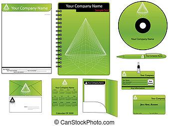identidade incorporada, modelo, vetorial, jogo, (calendar,...