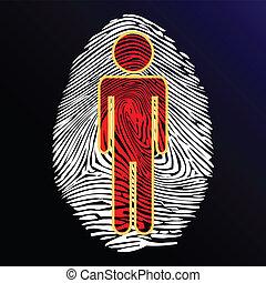 identidade, thumbprint