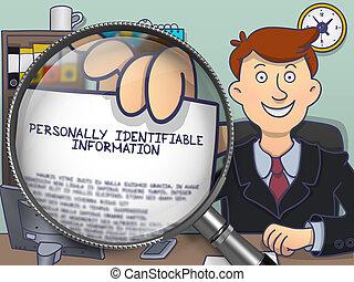 identifiable, informazioni, attraverso, magnifier., personally