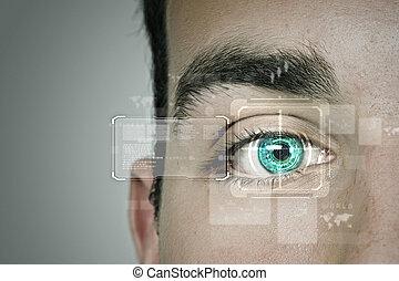 identificação, de, olho