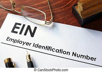 identificación, número, empleador