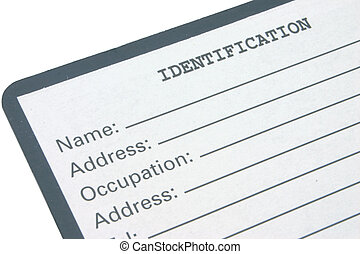 identification #2 - blank identification form