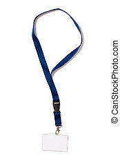 Identification Card - Badge with Clipping Path