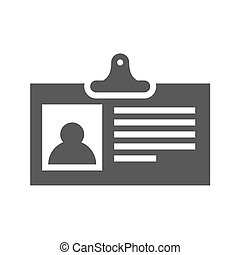 Identification Card Flat Vector Icon
