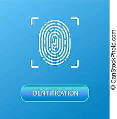 Identification Fingerprint Verification Poster -...