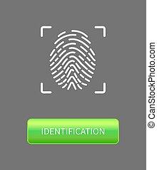 Identification Fingerprints Poster Print in Frame -...