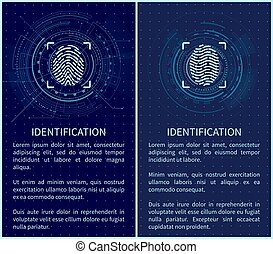 Identification Fingerprints Posters Set Vector -...