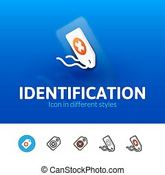 Identification icon in different style