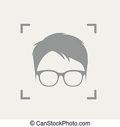 Identification of face with glasses