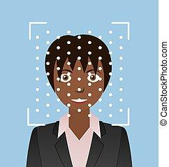 identification., recognition., biometrical, faccia