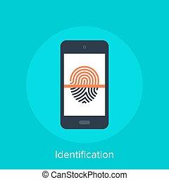 Identification - Vector illustration of identification flat...