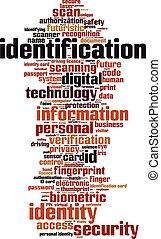 Identification word cloud