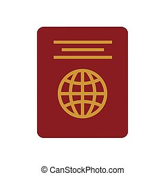 identifiering, röd, pass, turist