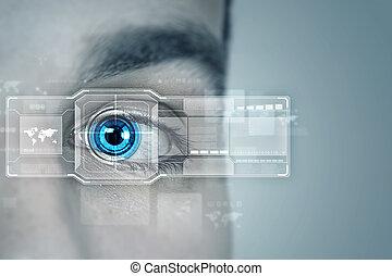 identifikation, i, øje