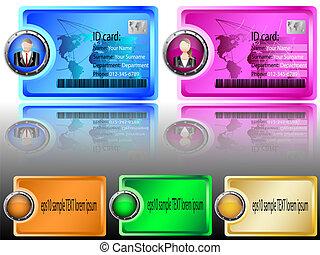 identifikation karte, kopfsprung