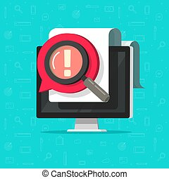 Identify important opinion online data on document file vector flat cartoon concept, censored or parental control idea, rude comment message, mad or bad complaint talk image