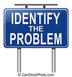 Identify the problem. - Illustration depicting a roadsign...