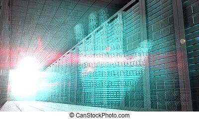 identità, grafica, in, stanza sistema servizio