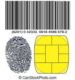 identità, impronta pollice