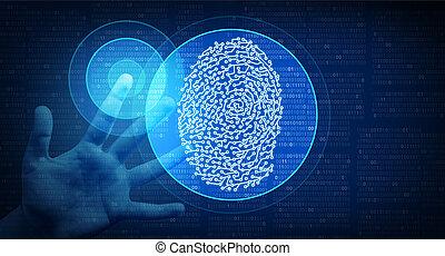 identität, biometrisch