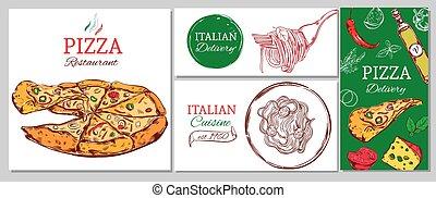 identität, gasthaus, schablone, italienesche, korporativ