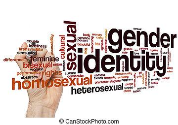 identité sexe, mot, nuage