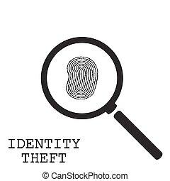 identiteit diefstal, illustratie