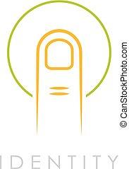Identity abstract vector logo