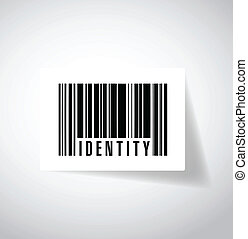 identity barcode illustration design over a white background