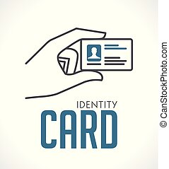 Identity card in hand - logo concept