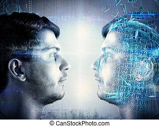 Identity copy - Man tries to create a identity copy