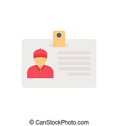 identity  flat color icon