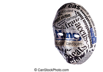 Identity fraud concept mask
