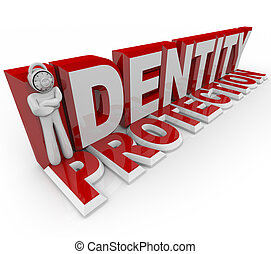 Identity Protection - Combination Lock Man - A man with a...