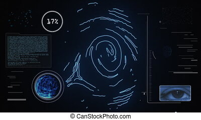 Identity scan: access permitted - Futuristic fingerprint and...