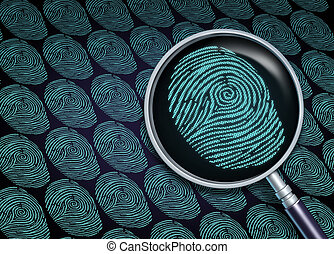 Identity Search - Identity search concept or choosing the...