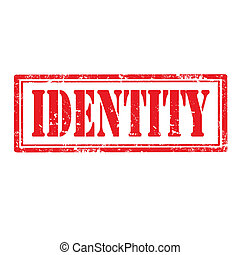 Identity-stamp - Grunge rubber stamp with text...