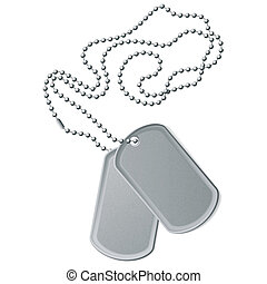 Identity tags - Vector illustration of identity tags