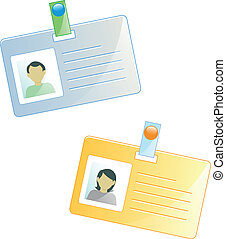 identity tasgs - dentity tags of a man and a woman