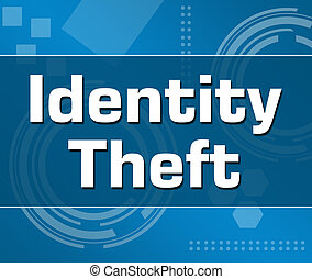 Identity Theft Abstract Blue Background Square