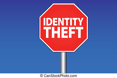 identity theft - computer generated traffic sign