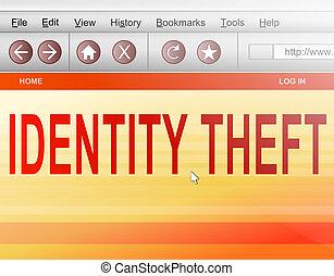 Identity theft concept.
